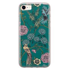 Telefoonhoesje Store iPhone 8/7 siliconen hoesje - Bloomy birds
