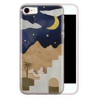 Leuke Telefoonhoesjes iPhone 8/7 siliconen hoesje - Woestijn