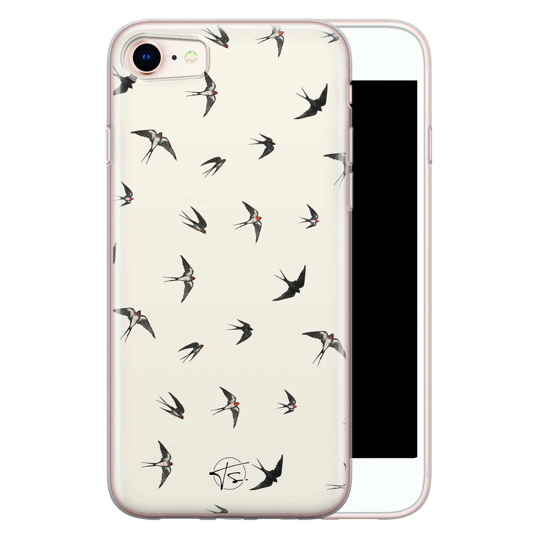 Telefoonhoesje Store iPhone 8/7 siliconen hoesje - Freedom birds