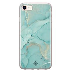 Casimoda iPhone 8/7 siliconen hoesje - Marmer mintgroen