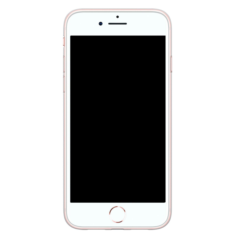 Leuke Telefoonhoesjes iPhone 8/7 siliconen hoesje - Abstract face line