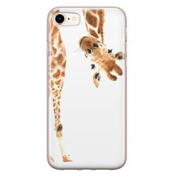 Leuke Telefoonhoesjes iPhone 8/7 siliconen hoesje - Giraffe