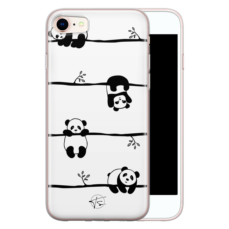 Telefoonhoesje Store iPhone 8/7 siliconen hoesje - Panda