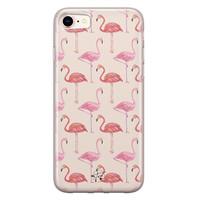 Telefoonhoesje Store iPhone 8/7 siliconen hoesje - Flamingo