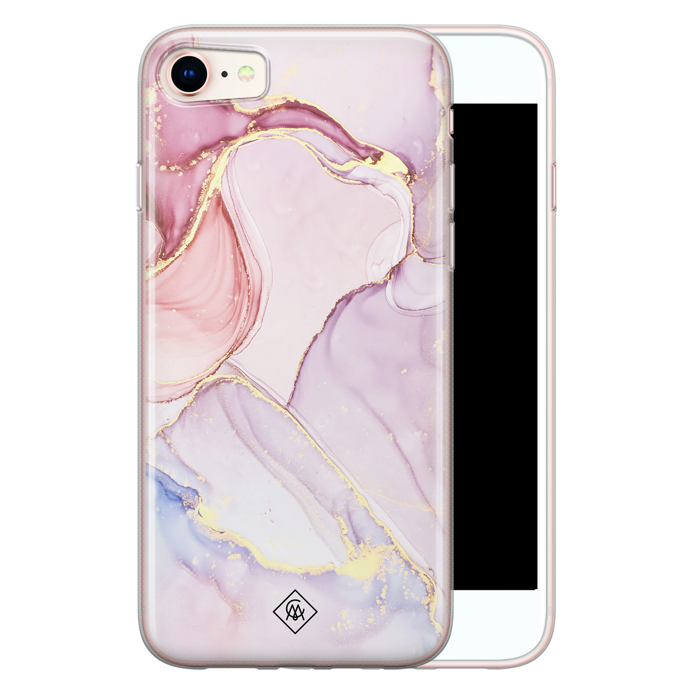 Casimoda iPhone 8/7 siliconen hoesje - Marmer paars