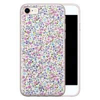Telefoonhoesje Store iPhone 8/7 siliconen hoesje - Purple Garden