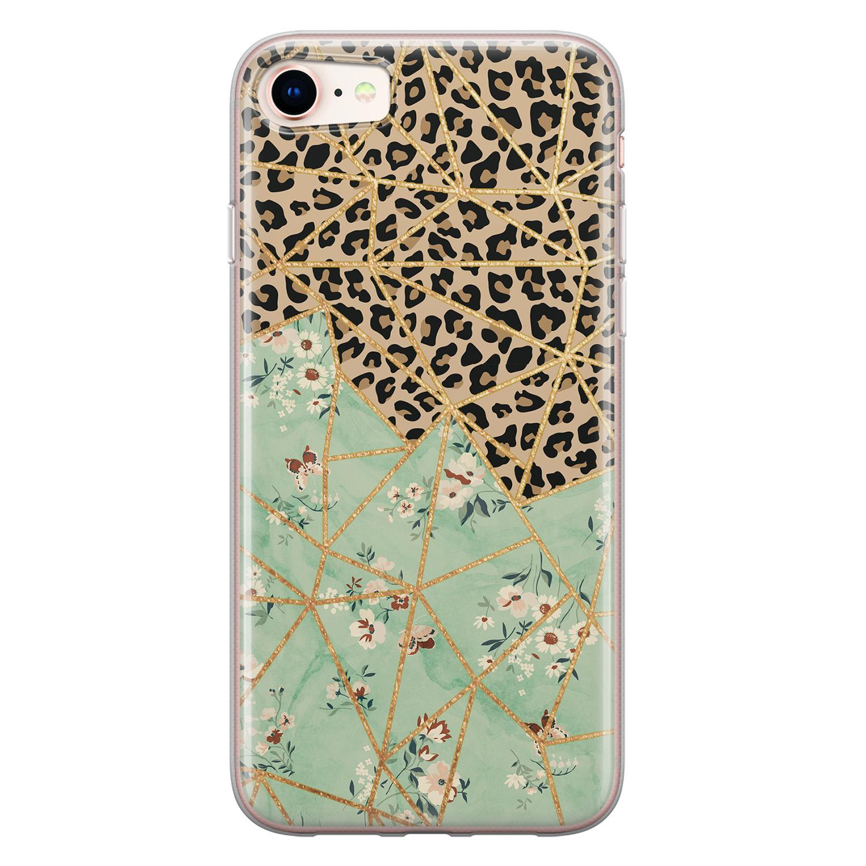 Leuke Telefoonhoesjes iPhone 8/7 siliconen hoesje - Leo Flower
