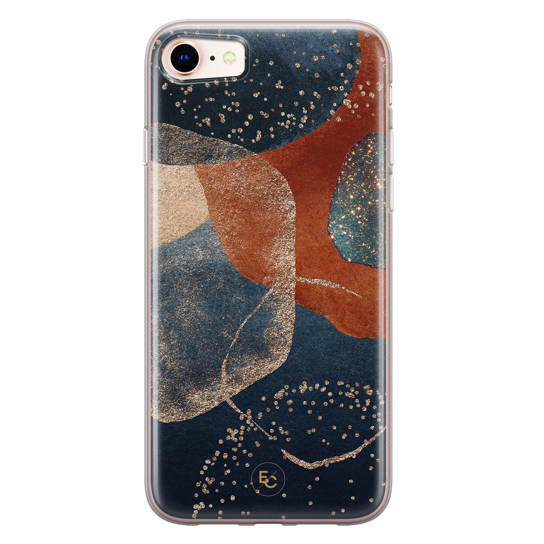 ELLECHIQ iPhone 8/7 siliconen hoesje - Abstract Terracotta