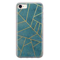 Telefoonhoesje Store iPhone 8/7 siliconen hoesje - Abstract blauw