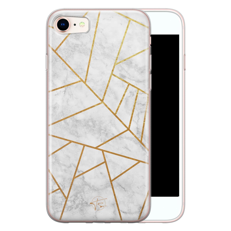 Telefoonhoesje Store iPhone 8/7 siliconen hoesje - Geometrisch marmer