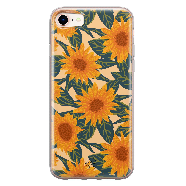 Telefoonhoesje Store iPhone SE 2020 siliconen hoesje - Zonnebloemen