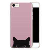 Telefoonhoesje Store iPhone SE 2020 siliconen hoesje - Zwarte kat