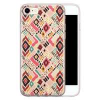 Telefoonhoesje Store iPhone SE 2020 siliconen hoesje - Boho vibes