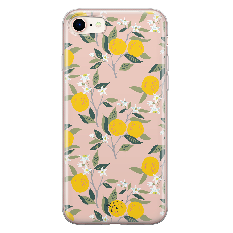 Telefoonhoesje Store iPhone SE 2020 siliconen hoesje - Citroenen