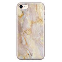 ELLECHIQ iPhone SE 2020 siliconen hoesje - Stay Golden Marble