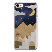 Leuke Telefoonhoesjes iPhone SE 2020 siliconen hoesje - Woestijn