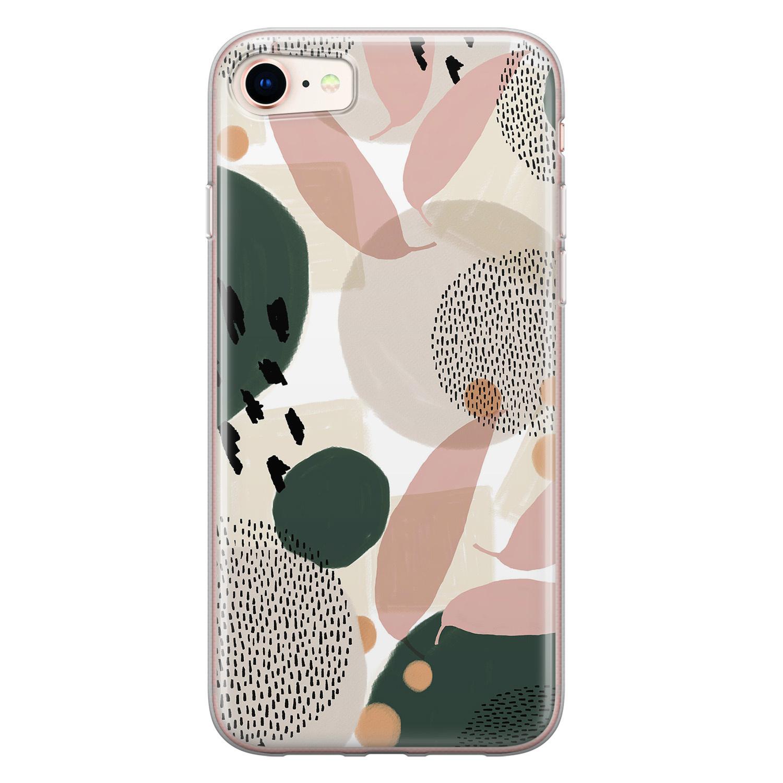 Leuke Telefoonhoesjes iPhone SE 2020 siliconen hoesje - Abstract