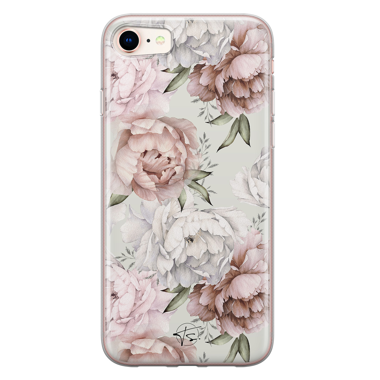 Telefoonhoesje Store iPhone SE 2020 siliconen hoesje - Classy flowers