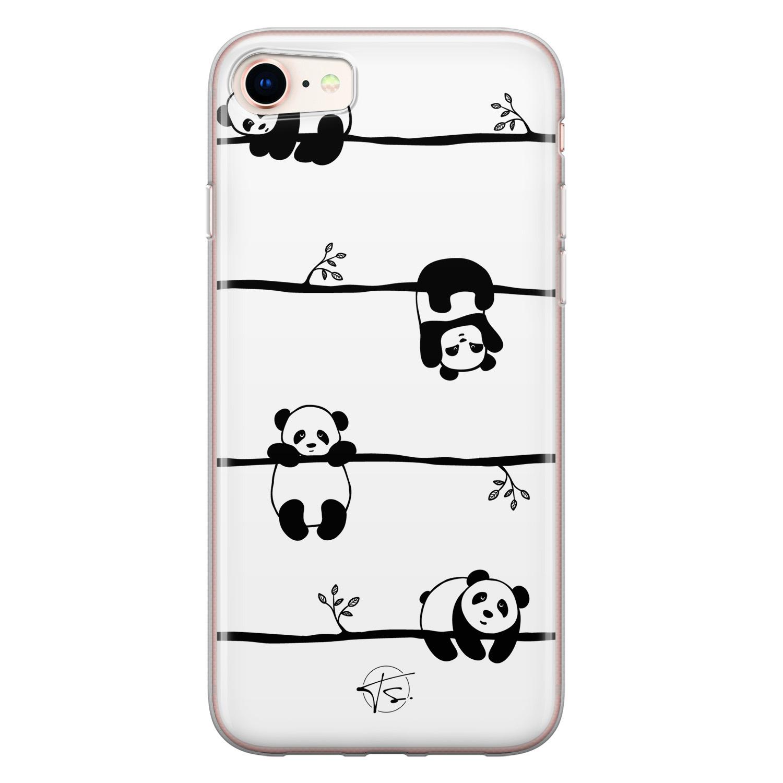 Telefoonhoesje Store iPhone SE 2020 siliconen hoesje - Panda