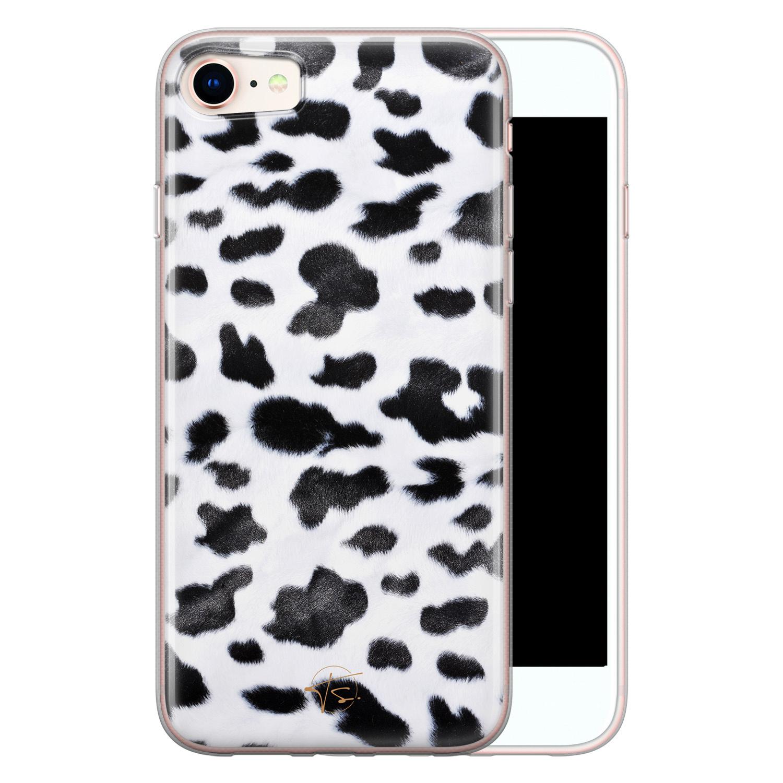 Telefoonhoesje Store iPhone SE 2020 siliconen hoesje - Koeienprint