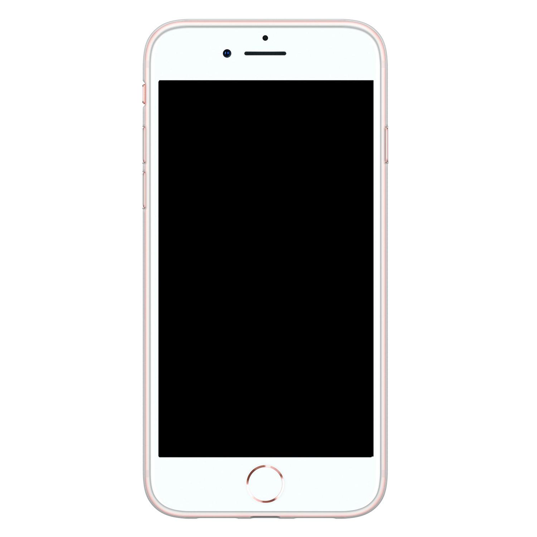 Leuke Telefoonhoesjes iPhone SE 2020 siliconen hoesje - Cactus hartjes