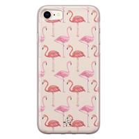 Telefoonhoesje Store iPhone SE 2020 siliconen hoesje - Flamingo