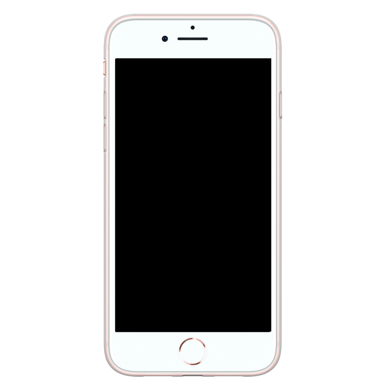 Casimoda iPhone SE 2020 siliconen hoesje - Marmer paars