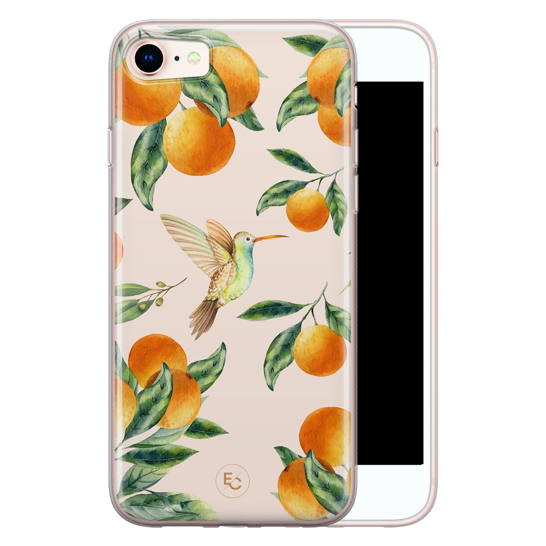 ELLECHIQ iPhone SE 2020 siliconen hoesje - Tropical Lemonade
