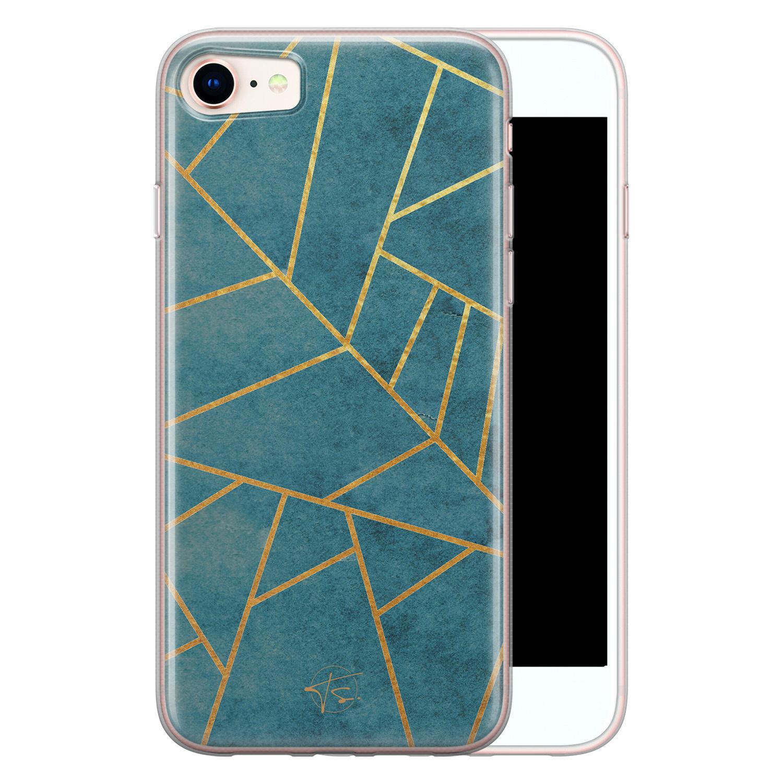 Telefoonhoesje Store iPhone SE 2020 siliconen hoesje - Abstract blauw