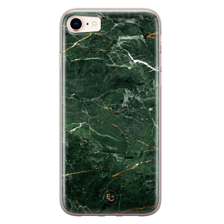 ELLECHIQ iPhone SE 2020 siliconen hoesje - Marble jade green