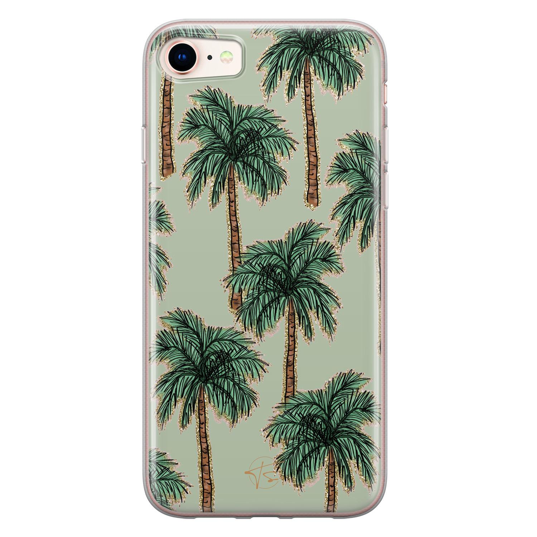 Telefoonhoesje Store iPhone SE 2020 siliconen hoesje - Palmbomen
