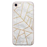 Telefoonhoesje Store iPhone SE 2020 siliconen hoesje - Geometrisch marmer