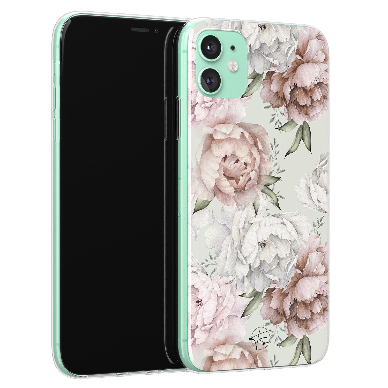 Telefoonhoesje Store iPhone 11 siliconen hoesje - Classy flowers