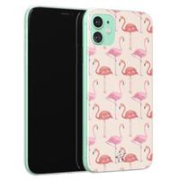 Telefoonhoesje Store iPhone 11 siliconen hoesje - Flamingo