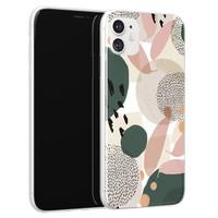 Leuke Telefoonhoesjes iPhone 11 siliconen hoesje - Abstract print