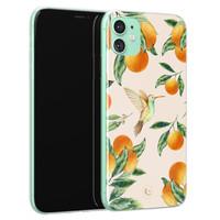 ELLECHIQ iPhone 11 siliconen hoesje - Tropical Lemonade