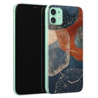 ELLECHIQ iPhone 11 siliconen hoesje - Abstract Terracotta