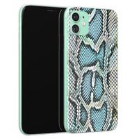 ELLECHIQ iPhone 11 siliconen hoesje - Baby Snake blue