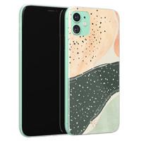 Telefoonhoesje Store iPhone 11 siliconen hoesje - Abstract peach