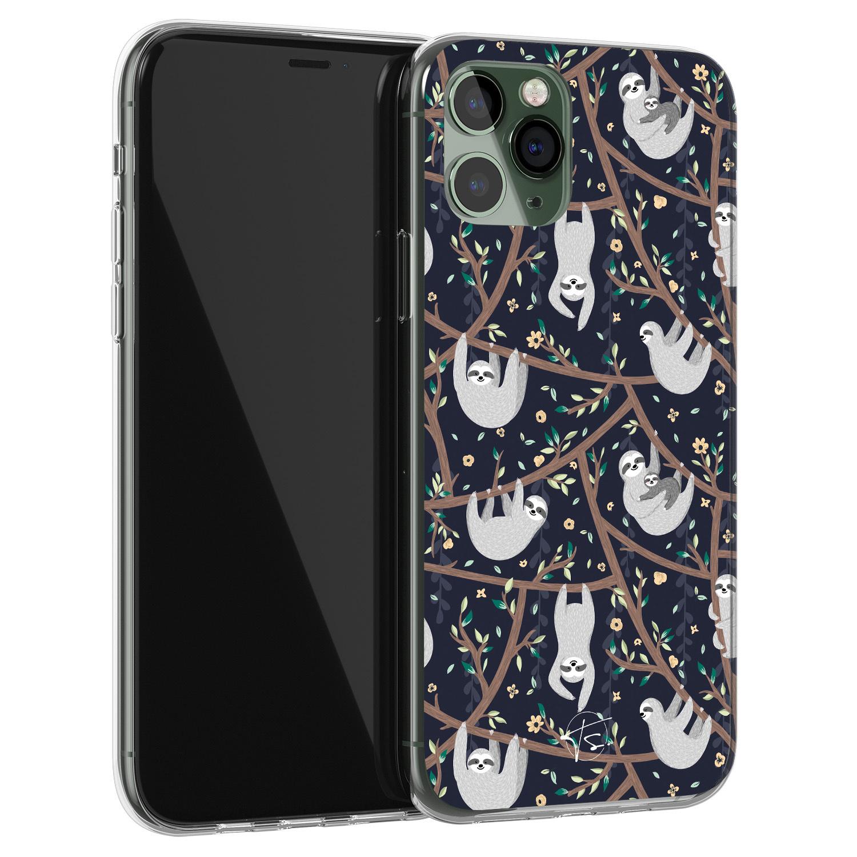 Telefoonhoesje Store iPhone 11 Pro siliconen hoesje - Luiaard