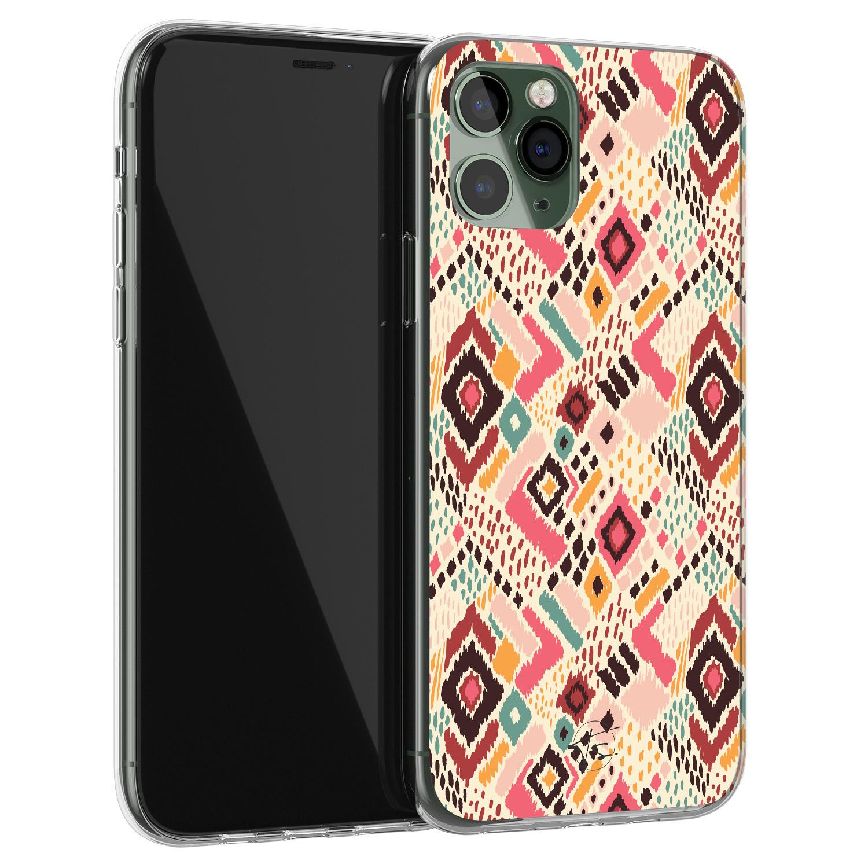 Telefoonhoesje Store iPhone 11 Pro siliconen hoesje - Boho vibes