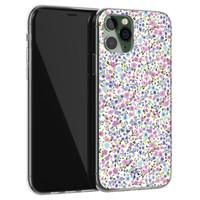 Telefoonhoesje Store iPhone 11 Pro siliconen hoesje - Purple Garden