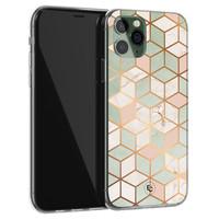 ELLECHIQ iPhone 11 Pro siliconen hoesje - Pastel Kubus