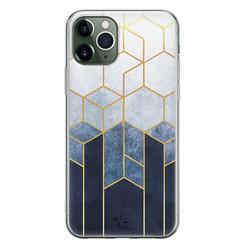 Telefoonhoesje Store iPhone 11 Pro Max siliconen hoesje - Geometrisch fade art