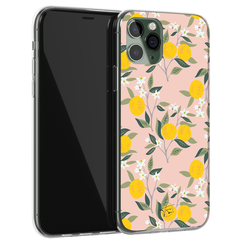 Telefoonhoesje Store iPhone 11 Pro Max siliconen hoesje - Citroenen