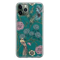 Telefoonhoesje Store iPhone 11 Pro Max siliconen hoesje - Bloomy birds