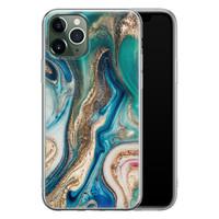 Telefoonhoesje Store iPhone 11 Pro Max siliconen hoesje - Magic marble