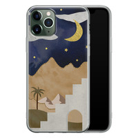 Leuke Telefoonhoesjes iPhone 11 Pro Max siliconen hoesje - Woestijn