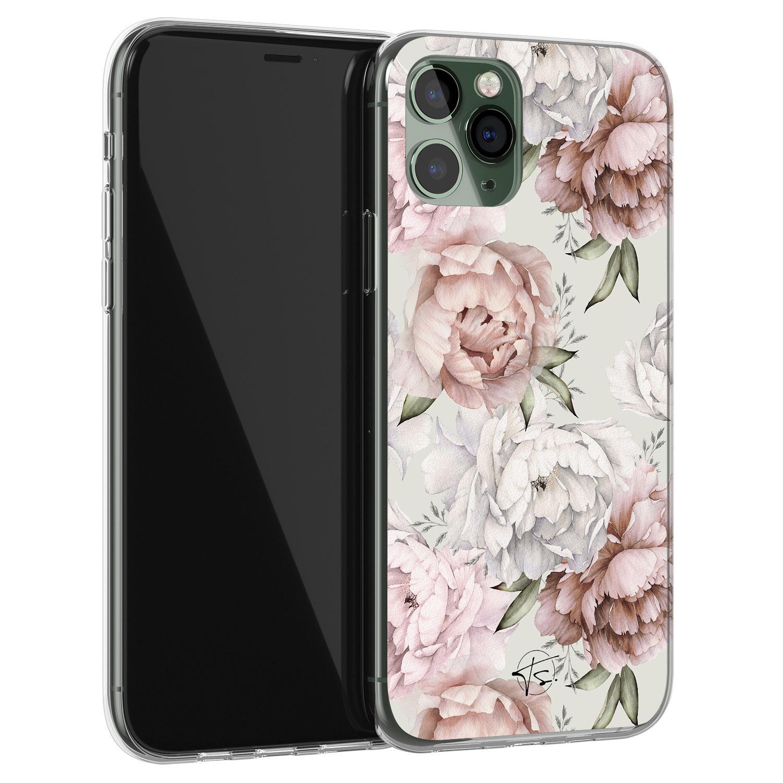 Telefoonhoesje Store iPhone 11 Pro Max siliconen hoesje - Classy flowers