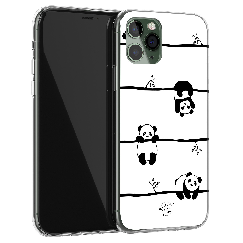 Telefoonhoesje Store iPhone 11 Pro Max siliconen hoesje - Panda
